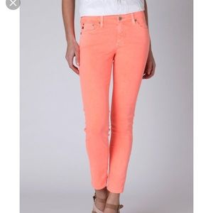 AG Adriano Goldschmied Stevie Ankle Orange Jeans